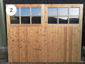 Garage doors with glazed section 2