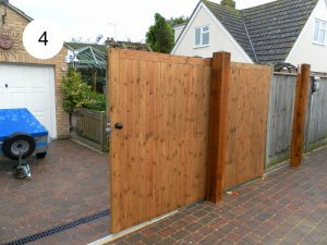 plain solid sliding gate-front view